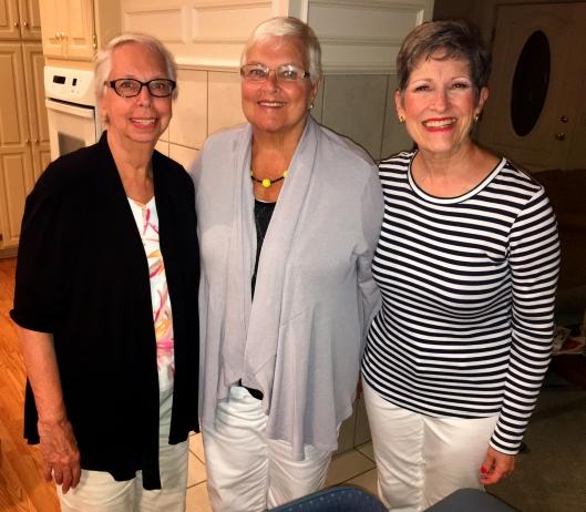 Friends through time: Sue, Anita and Madeleine