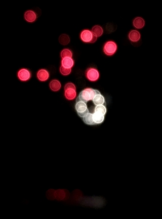 Out of focus fireworks make pretty bokeh.