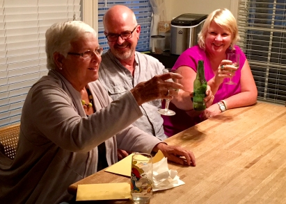 A toast to Dad on his birthday, too.